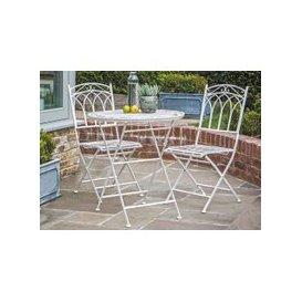 image-Gallery Direct Burano White Gatehouse Outdoor Garden Bistro Set