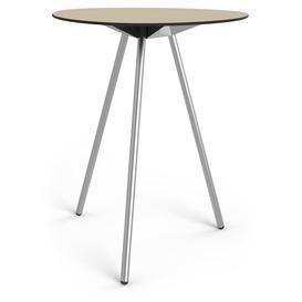 image-Luca Bar Table Isabelline Base Colour: Steel, Top Colour: Sand