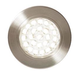 image-Charles Circular Natural White LED Under Kitchen Cabinet Light - Satin Nickel
