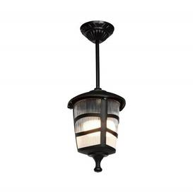 image-Goldia 1 Light Outdoor Hanging Lantern Rosalind Wheeler Fixture Finish: Black