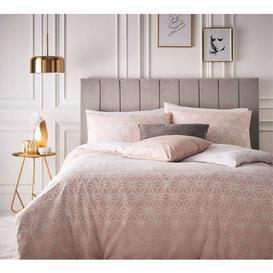 image-Geometric Flowers Bed Linen Set (Super King Set)