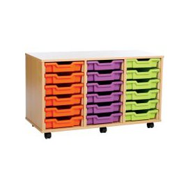 image-18 Shallow Tray Storage Unit, Pink/Purple/Lime, Free Standard Delivery