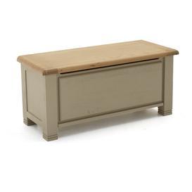 image-Vida Living Logan Taupe Painted Furniture & Oak Blanket Box