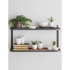 image-Metal double wall shelf
