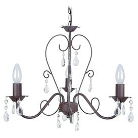 image-Metson 3-Light Candle Style Chandelier Lily Manor Finish: Taupe