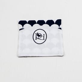 image-Baby Sheet Set Just Kids Colour: White/Navy Blue, Size: 80 cm W x 150 cm L