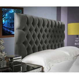 image-Upholstered Headboard Willa Arlo Interiors Size: Kingsize (5'), Upholstery: Steel
