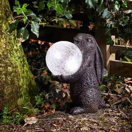 image-Smart Solar Hare Magic Solar Light Garden Ornament