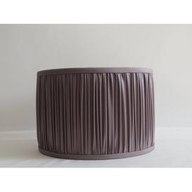 image-Mushroom Pleat Faux Silk Drum Lamp Shade Marlow Home Co. Colour: Grey, Size: 27cm H x 40cm W x 40cm D