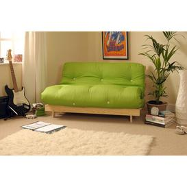 image-Pfeffer 2 Seater Futon Sofa Mercury Row Upholstery Colour: Lime, Size: Double (4'6)