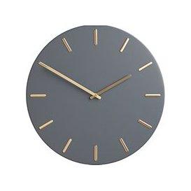 image-John Lewis & Partners Arne Brass Dial Analogue Wall Clock, 45cm