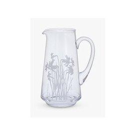 image-Dartington Crystal Bloom Daffodil Jug Vase, H22.5cm