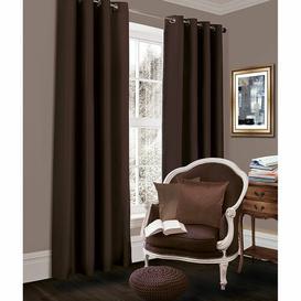 image-Geise Grommet Eyelet Room Darkening Thermal Curtains Brayden Studio Colour: Chocolate, Size per Panel: 167 W x 229 D cm