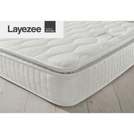 image-Layezee 800 Pocket Pillow Top Memory Mattress Silentnight Size: Single (3')