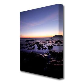 image-'Ocean Rocks At First Light Landscape' Photographic Print on Canvas East Urban Home Size: 142.2 cm H x 101.6 cm W