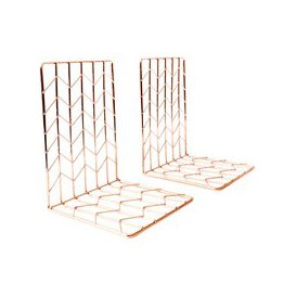 image-House by John Lewis Bookends, Rose Gold