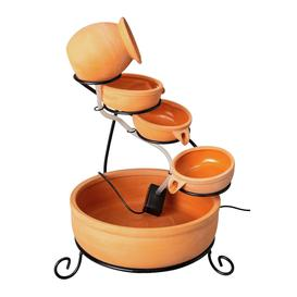 image-Argos Home Solar-powered Terracotta Water Fountain