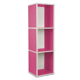 image-Narrow Bookcase Symple Stuff Colour: Pink