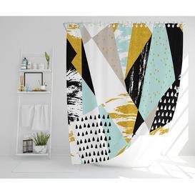image-Beckett Polyester Shower Curtain Set Isabelline Size: 177cm H x 210cm W
