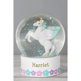 image-Personalised Unicorn Name Snow Globe