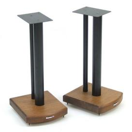 image-50cm Fixed Height Speaker Stand Symple Stuff Finish: Black/Dark Bamboo