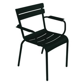 image-Luxembourg Stackable armchair by Fermob Licorice