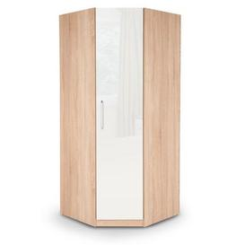 image-Kew Corner Wardrobe White and Brown