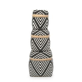 image-The Beaded Stripes & Dots Fabric 3 Piece Basket Set