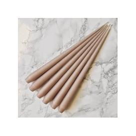 image-Hand Dipped Taper candles - Nude (6 pack)