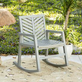 image-Linda Rocking Chair Longshore Tides Colour: Grey Wash