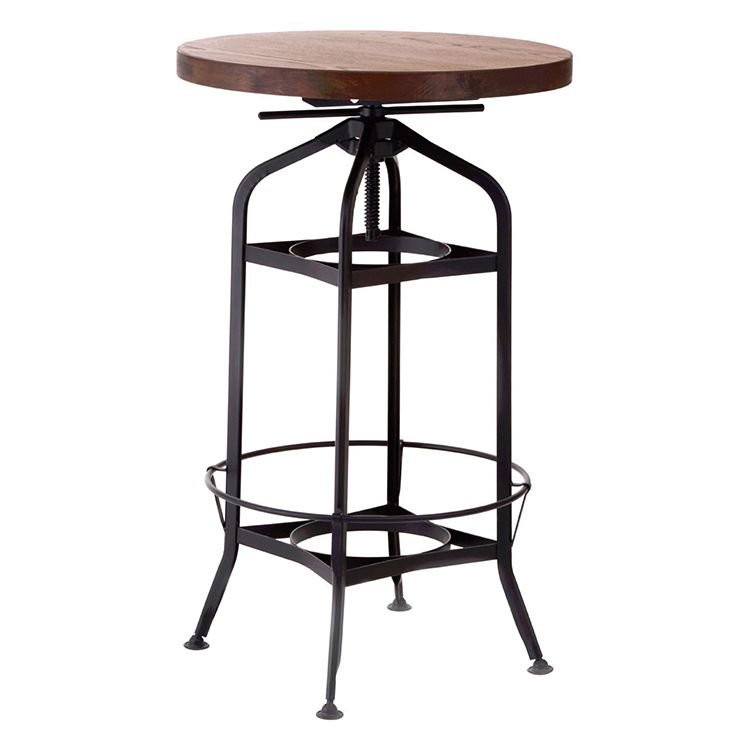 image-New Foundry Industrial Furniture Height Adjustable Bar Table