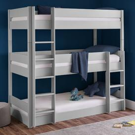 image-Triplett Triple Sleeper Bunk Bed Isabelle & Max Colour: Grey