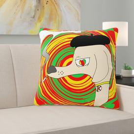 image-Ryne Cushion with filling Happy Larry Size: 44cm H x 44cm W