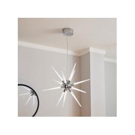 image-Liard 9 Light Pendant Integrated LED Star Ceiling Fitting Chrome
