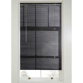 image-Plain Room Darkening Venetian Blind Ebern Designs Size: 160 cm L x 90 cm W, Finish: Black