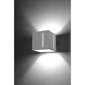 image-Fafnir 1-Light Up & Downlight Mercury Row Fixture Finish: White