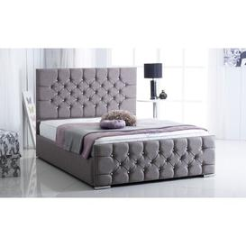 image-Mercer Upholstered Bed Frame Willa Arlo Interiors Size: Single (3'), Colour: Silver Crush
