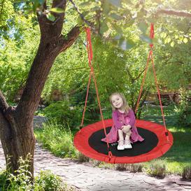 image-Maximillian Swing Seat Freeport Park Colour: Red