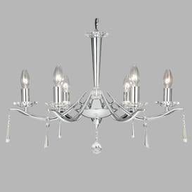 image-6-Light Candle-Style Chandelier Willa Arlo Interiors