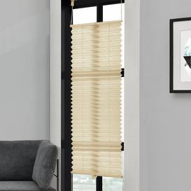 image-Symple Stuff Semi-Sheer Pleated Blind Symple Stuff Colour: Cream, Size: 125cm L x 50cm W