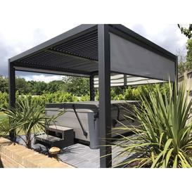 image-Maranza Vented Gazebo 3.5 x 3.6m Louvered Shuttered Roof System (Number Of End Screens (3.5m): Two End Screens, Number Of Side Screens: Two Side Scree
