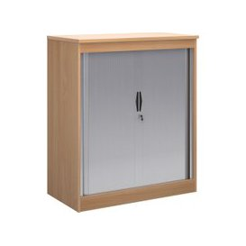 image-Multi Storage Tambour Cupboards, 102wx55dx120h (cm), Beech, Free Delivered & Fully Installed Delivery