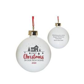image-Personalised First Christmas New Home Bauble