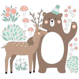 image-Bear and Deer Children's Bedroom Wall Sticker