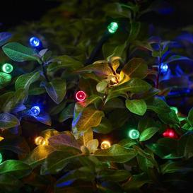 image-Cole & Bright 100 LED Dual Power Multi Coloured Solar String Lights Multi coloured