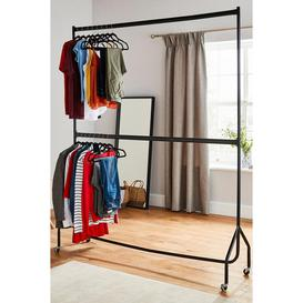 image-Two Tier Heavy Duty 6ft x 7ft Clothes Rail