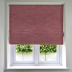 image-Hamleton Red Textured Plain Roman Blinds, Blackout Lining / 265cm x 200cm / Red