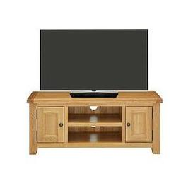 image-Luxe Collection - Oakland Ready Assembled 100% Solid Wood Large Tv Unit - Fits Up To 55 Inch Tv