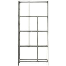 image-Agosti Bookcase Ebern Designs Colour: Silver
