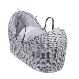 image-Moses Basket with Bedding Clair De Lune Finish: Grey